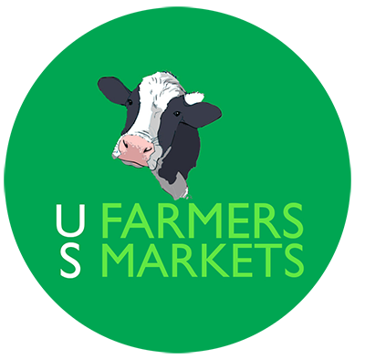 US Farmers Markets Cow Logo